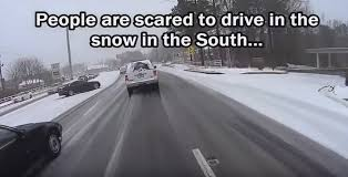 Driving In Snow Meme - driving in the snow the north versus the south video motley