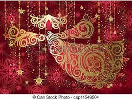 Purple Gold Christmas Decorations Vector Clipart Of Christmas Decorations Gold Angel Csp11549504