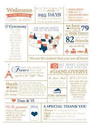 Wedding Program Board 8x10 Infographic Wedding Program By Bisforbrown On Etsy Wedding
