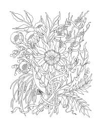 flowers coloring pages for adults selfcoloringpages mcoloring