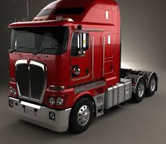 2008 kenworth truck kenworth k200 tractor truck 2010 3d model hum3d
