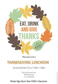 annual thanksgiving luncheon flance early learning center