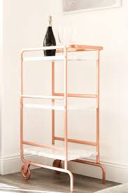 Ikea Trolley by Ikea Sunnersta Trolley Diy Hack Bright Copper And Marble Finish