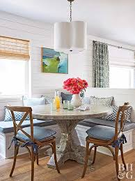 banquette with round table breakfast room banquette ideas
