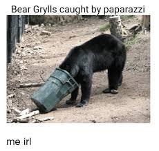 bear grylls caught by paparazzi bear meme on sizzle