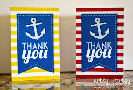 nautical thank you cards printable nautical thank you cards artsy fartsy