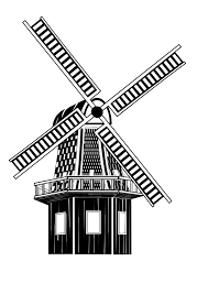 windmill sketch clipart 7