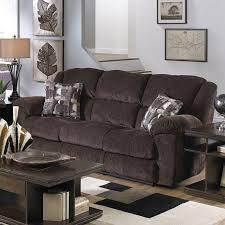 transformer triple reclining sofa w drop down table chocolate