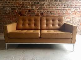 Canap 2 Places En Cuir Canapé 2 Places Vintage En Cuir Par Florence Knoll Pour Knoll En