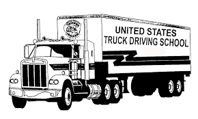 looking to de stress try coloring united states truck driving