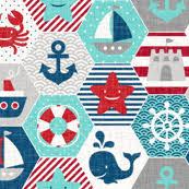 nautical fabric wallpaper u0026 gift wrap spoonflower