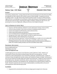 Resume Sample For Doctors by Nurse Resume Example