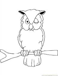 owl printable coloring page for kids and adults coloring pages