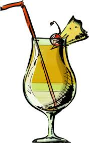 clipart pina colada cocktail