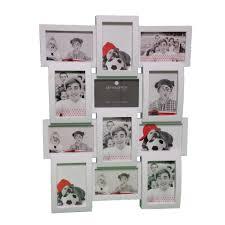 cadre photo pêle mêle mural capacità 12 photos coloris blanc