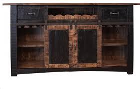burleson home furnishings anton sliding barn door home bar