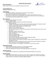 Best Resume Job Descriptions by Cna Job Description On Resume Free Resume Example And Writing