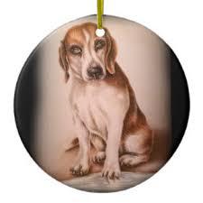 beagle drawings ornaments keepsake ornaments zazzle