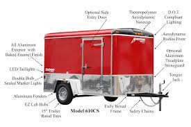 enclosed trailer interior light kit challenger enclosed cargo trailers homesteader trailers