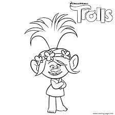 trolls poppy troll coloring pages printable