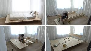 Wood Platform Bed Make This Diy Modern Wood Platform Bed Contemporist