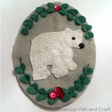 monogrammed ornaments american felt craft