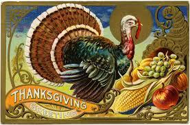 Thanksgiving Vintage Free Vintage Image Thanksgiving Greetings Turkey Postcard