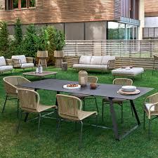Modern Garden Table Varaschin Kolonaki Modern Outdoor Dining Table Many Measures Available