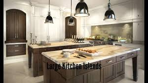 Big Kitchen Design Ideas by Large Kitchen Islands Youtube