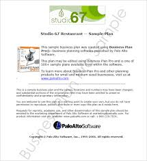 free business plan template pdf restaurant business plan template free pdf word documents