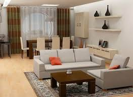 interesting living room and dining combined with combo furniture