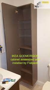 ikea godmorgon high cabinet high gloss gray article number