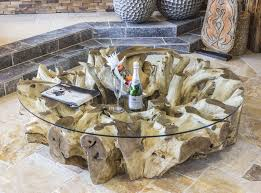 Wohnzimmertisch Uhr Der Tischonkel Wohnzimmertisch Baumwurzel 160 X 41 Cm