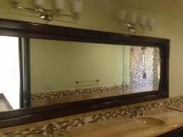 wood framed bathroom mirrors cherry mirror iron frame custom wood
