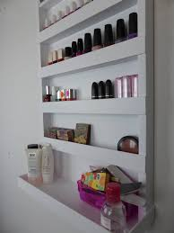 Acrylic Bathroom Storage μake Up Organizer Nail Rack Bathroom Storage