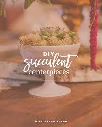 diy succulent centerpieces mendon belle