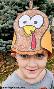 free thankful turkey hat printable for parenting chaos
