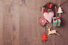 rustic christmas rustic christmas decorations hanging wooden background with