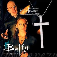 buffy the vire slayer slayer s cross necklace for jewelry