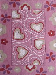 Kids Pink Rugs by 2 Piece Set 4 U0027 X 6 U0027 Ft Kids Pink Rug With Hearts Design U0026 Yoga