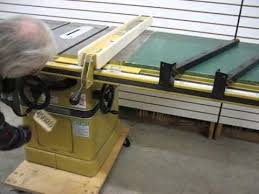 powermatic 10 inch table saw sold used powermatic model 66 table saw 5hp us0120 youtube