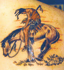 bad terrible horse tattoo red indian lazer horse