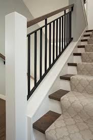 gray stair runner design ideas
