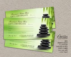 beauty spa salon blank gift certificate template salon nails
