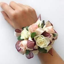 prom corsage 4 white maroon corsage prom corsage in fork ut 3c floral