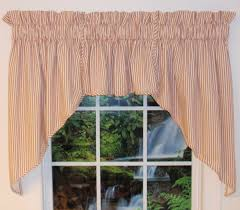 Black Window Valance Ticking Stripe Fabric Thecurtainshop Com
