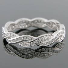 546s 101p thin art deco woven design micro pave set diamond mini