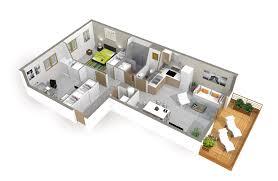 maison avec 4 chambres cuisine construction and d on plan maison 4 chambres etage plan avec