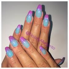 blue purple ombré coffin nails bymargarita coffin nails
