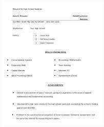 high school student resume template no experience high school student resume template word paso evolist co